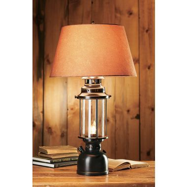 White River Large Lantern Table Lamp Lantern Table Lamp Rustic