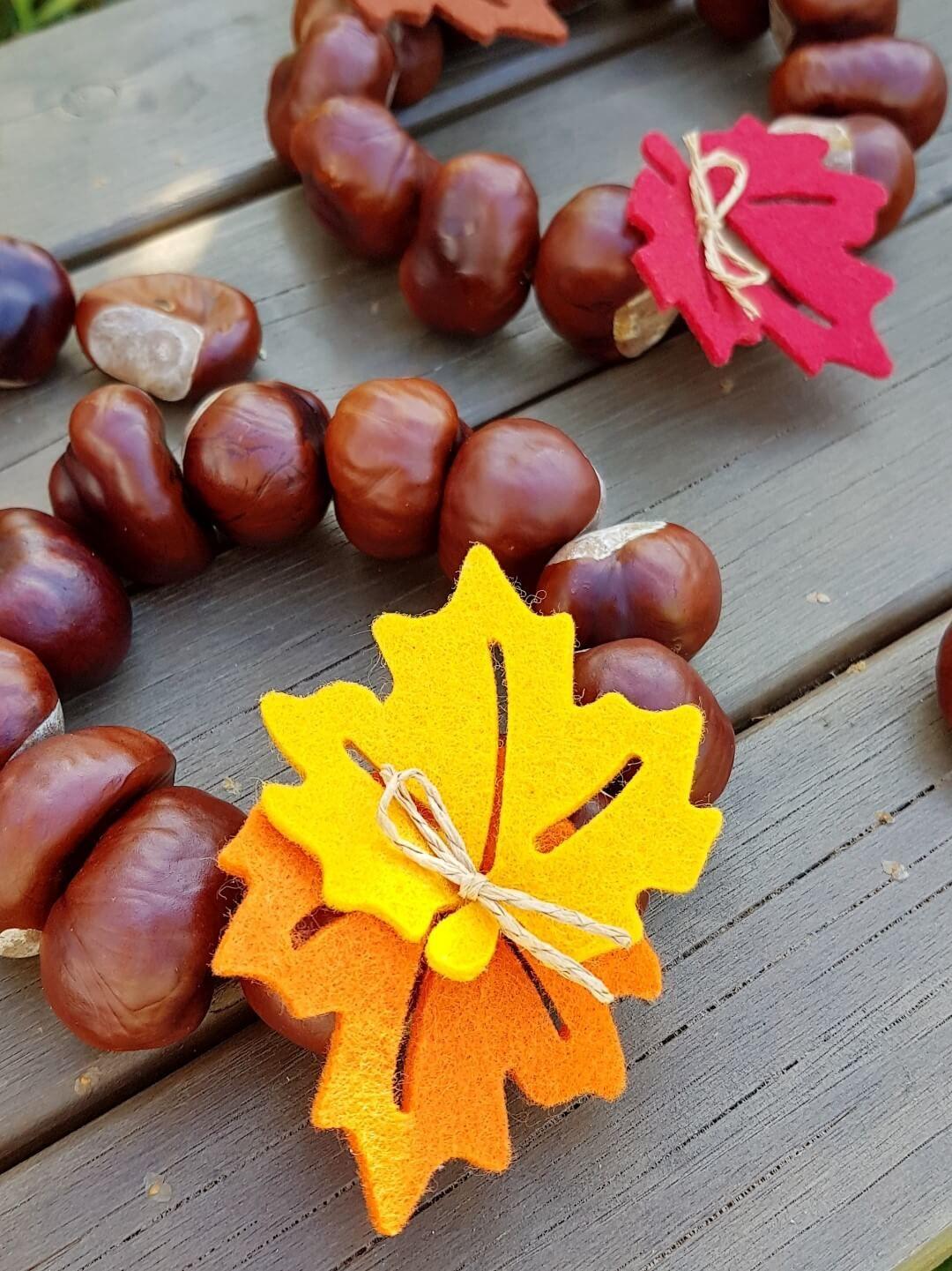 Herbst Dekoration Basteln.Herbst Deko Kastanien Kränze Und Andere Ideen осень