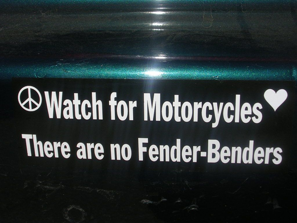 May Is Motorcycle Awareness Month Save A Life - Custom motorcycle bumper stickers awareness