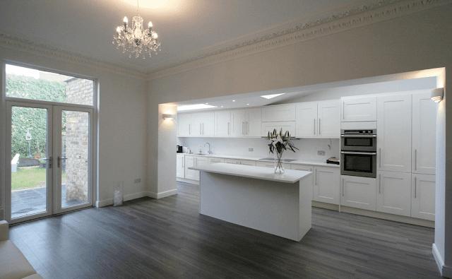 ارضية المطبخ Grey Flooring Grey Kitchens Kitchen Design