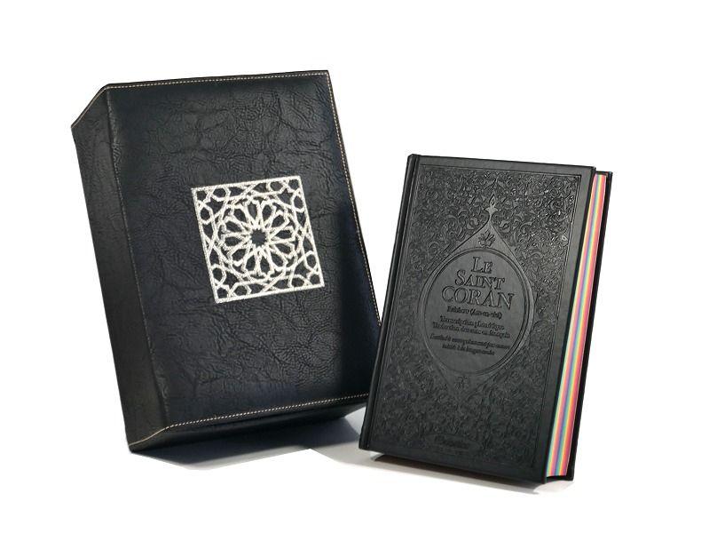 Coffret Cadeau Cuir Noir Le Saint Coran Rainbow Francais Arabe Phonetique Et Coffret Artisanal De Luxe Coffretcadeaucoran Cadeaum Cuir Noir Cuir Noir