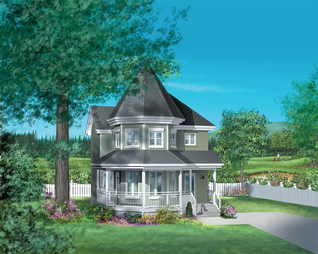 Victorian Style House Plan 3 Beds 1.5 Baths 1396 Sq/Ft
