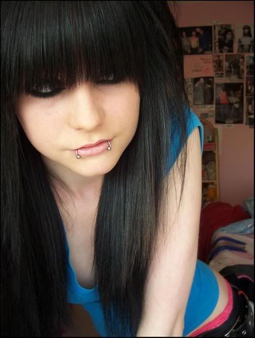 Scene Hair With Front Bangs Straight Emo Bangs Emo