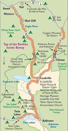 Colorado Scenic Drive: Top of the Rockies Scenic Byway ...