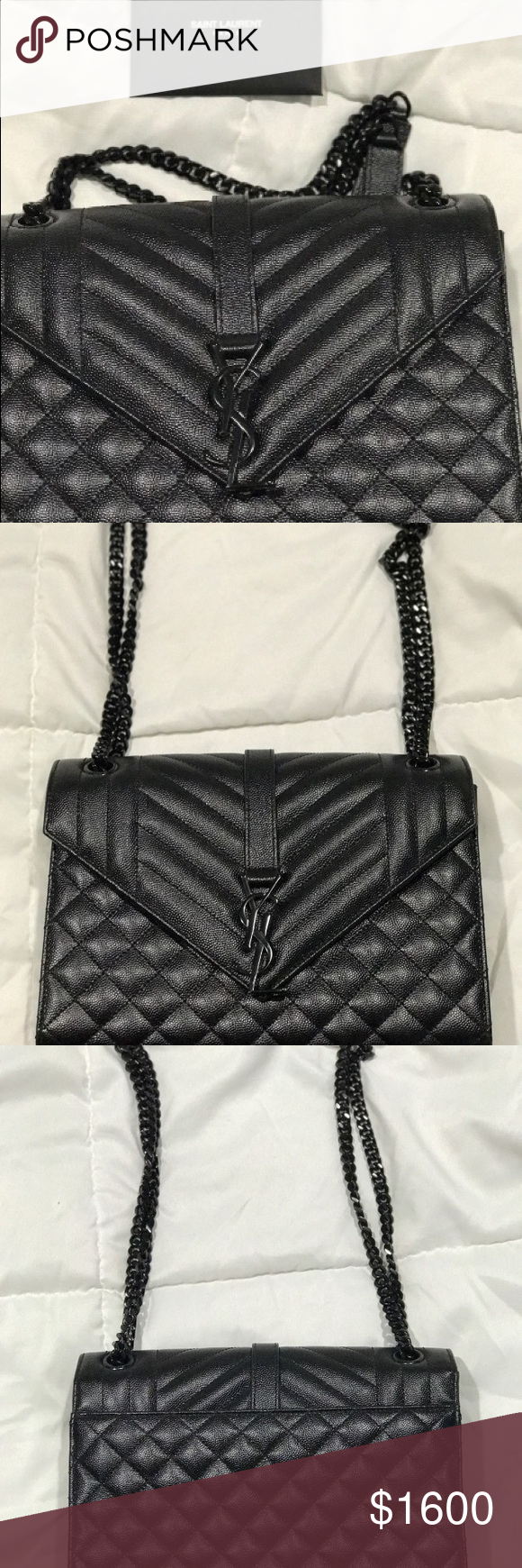 YSL Black Quilted Side Bag Used once 9d4f56ccd5f6d