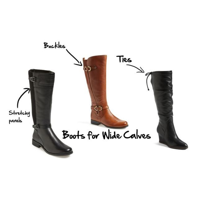 Boots for wide calves
