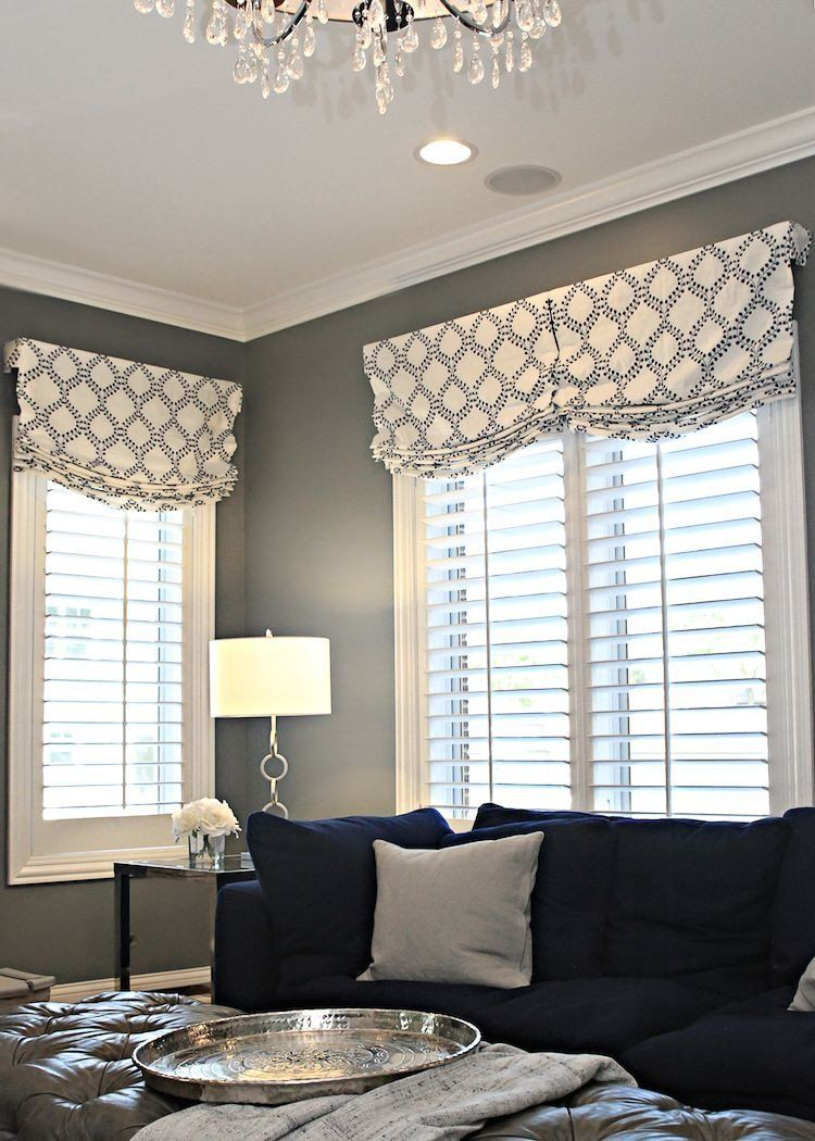 Valance Ideas For Bedrooms Before After Family Room For 5 With Images In 2020 Window Treatments Living Room Valances For Living Room Living Room Drapes
