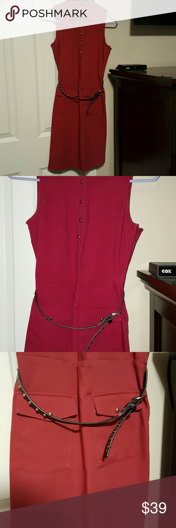 Xoxo maroon burgundy shirt dress xs! Adorable shirt dress for fall and winter! Xoxo size xs only worn twice! XOXO Dresses Midi