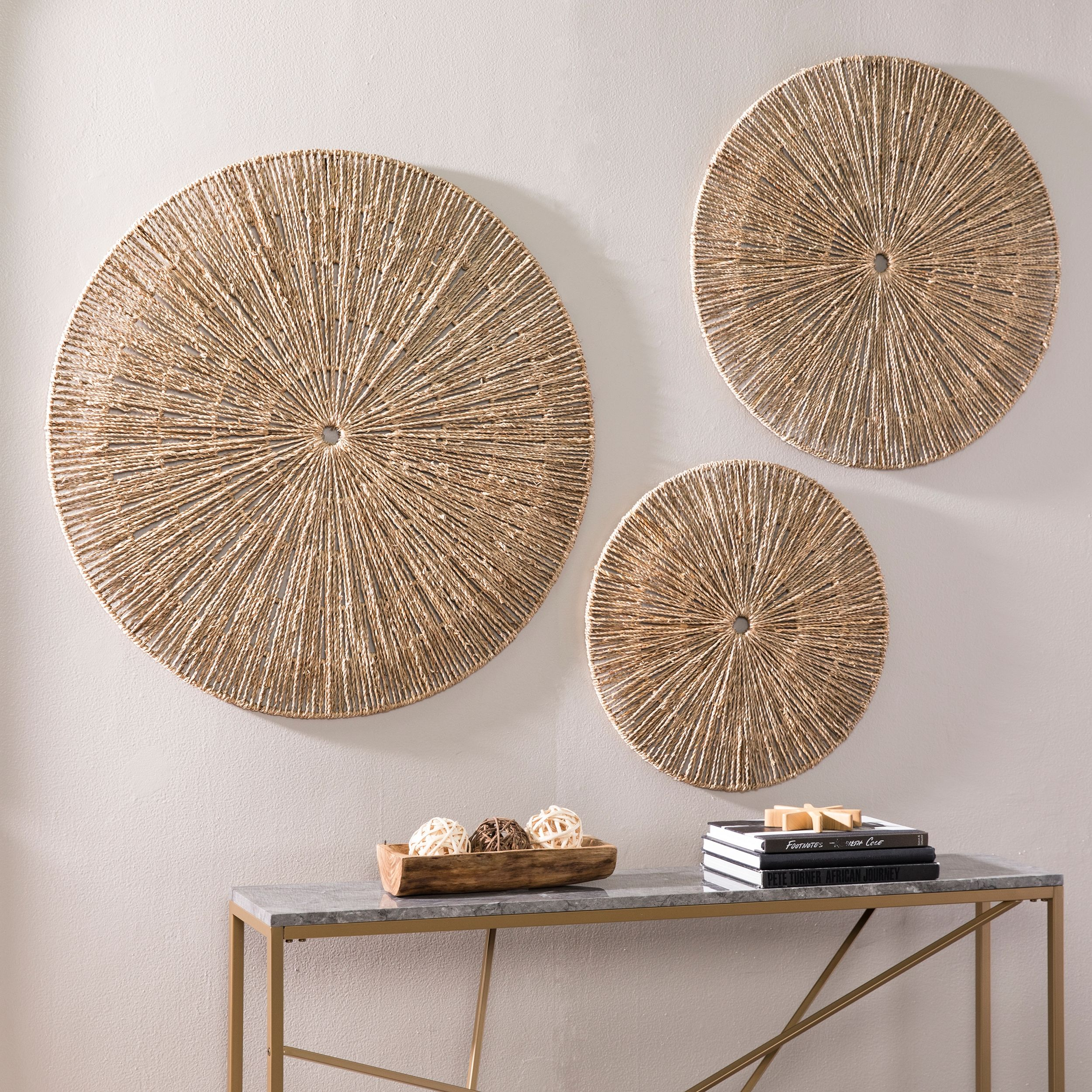 Handwoven Willow Wheel Wall Art 48 Study Decor Oversized Wall Decor Resource Decor