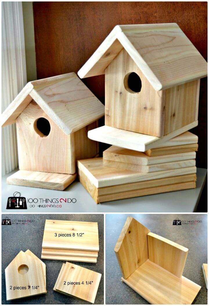 How to build a Birdhouse? 55 Easy DIY Birdhouse Ideas #birdhouses
