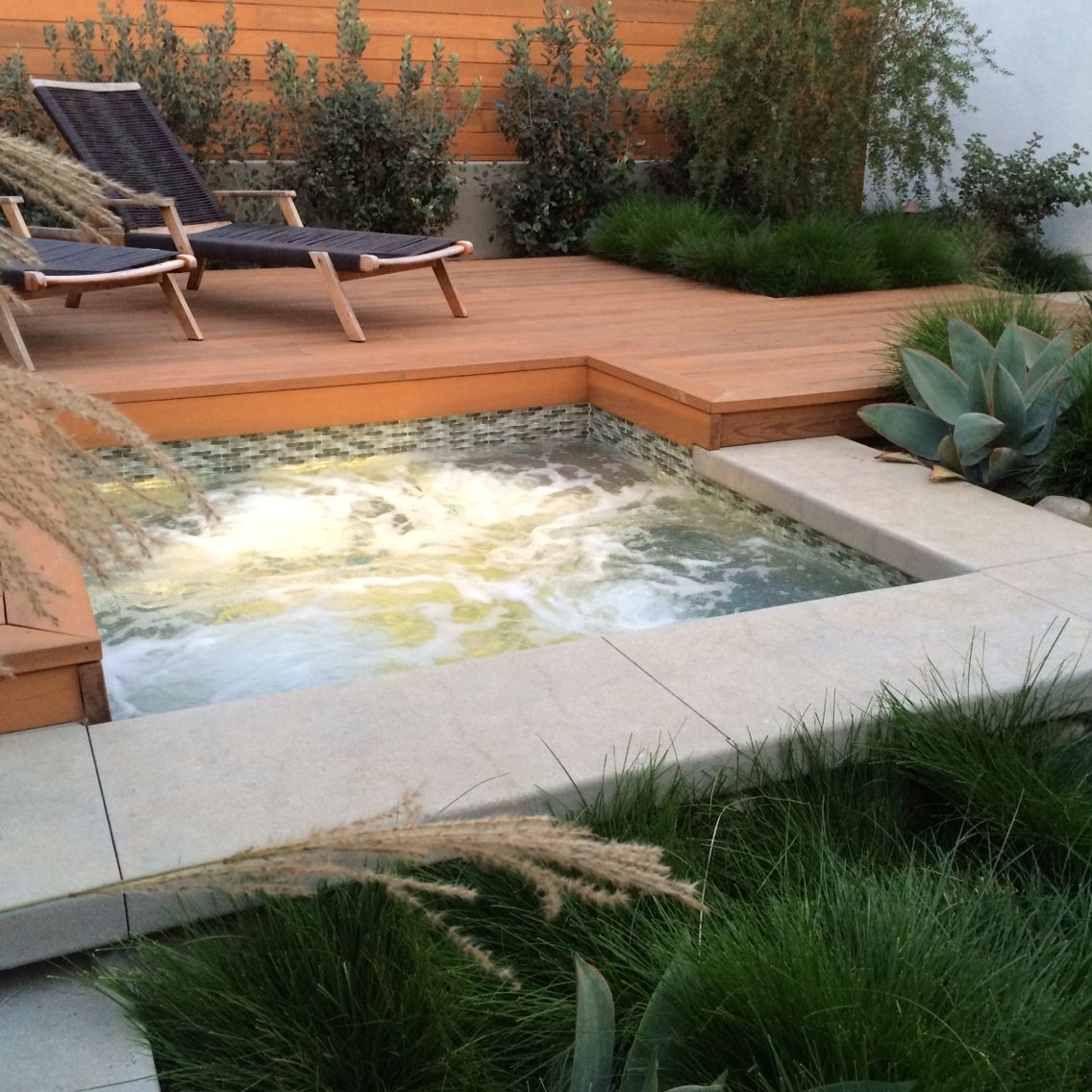 Spa And Deck Combo By Falling Waters Landscape Www