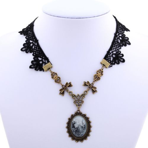 New-Women-Floral-Lace-Lolita-Goth-Pendant-Charm-Necklace-Jewelry-Gift-Fashion