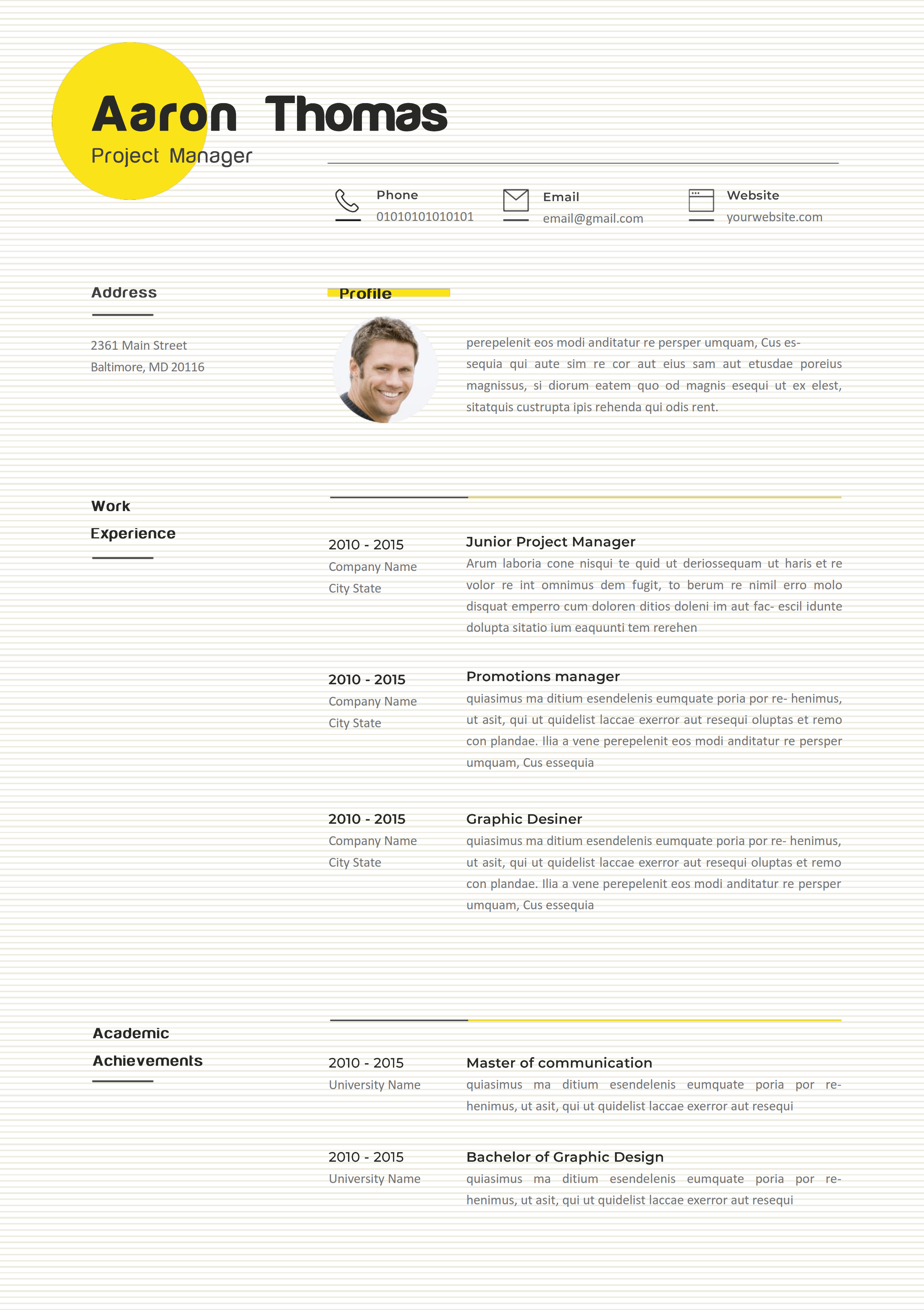 Cabstand Project Manager Resume Resume Writing Tips Resume Layout