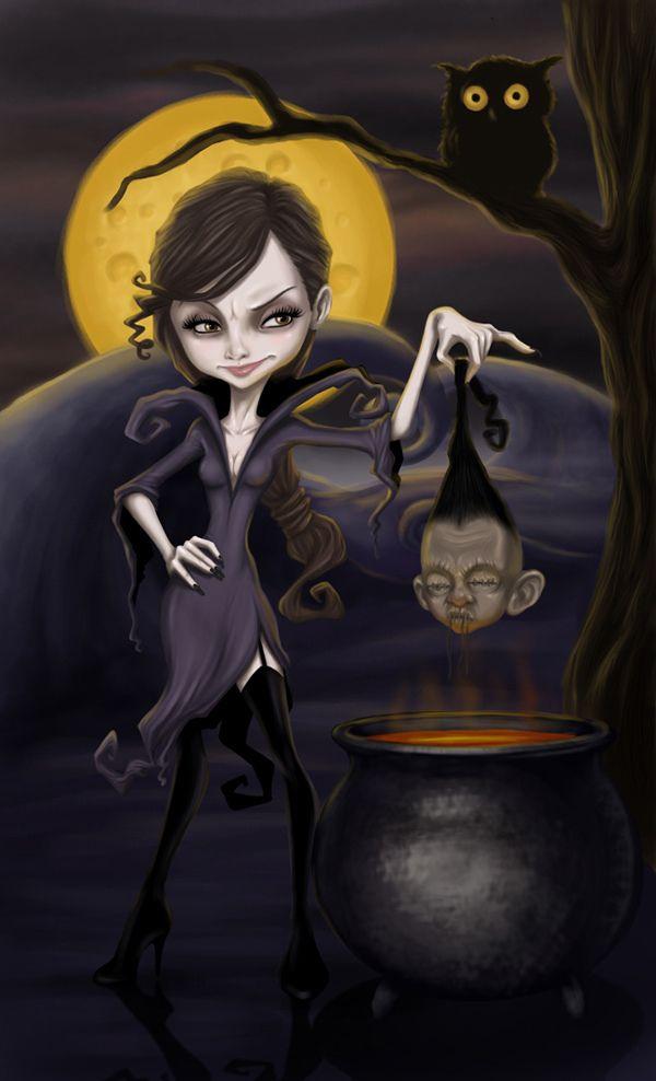 Картинки, картинка ведьмы прикольная