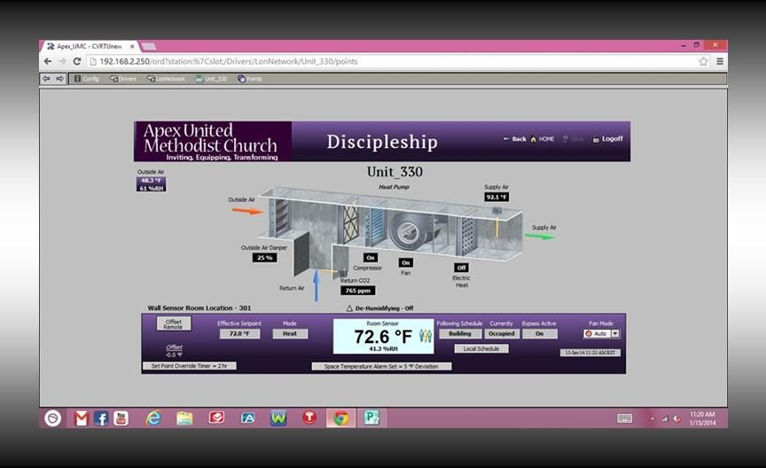 Automated Building System Screenshot From Apex United Methodist Church More Info At Http Greenlivi United Methodist Church Methodist Church Building Systems