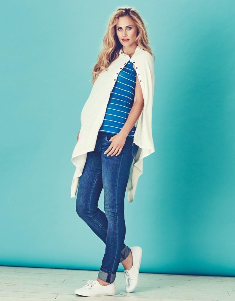 Off White Cotton Nursing Shawl | Seraphine | Maternity fashion | Stylish nursing clothes