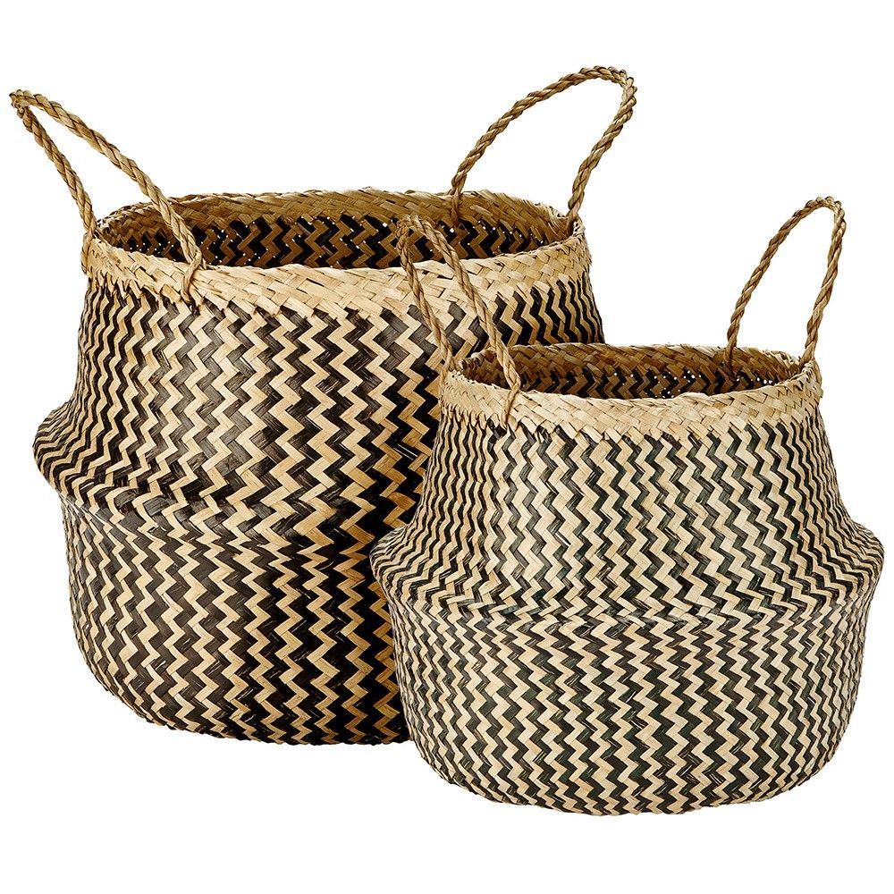 Murmur+Seagrass+Basket+Set+Of+2+-+Set+of+two+red+seagrass+woven+baskets,+available+in+a+choice+of+colours. Add+a+touch+of+boho-style+to+your+home+interior+with+the+Murmur+Seagrass+Basket+Set+of+2. Designed+by+Murmur,+this+decadent+duo+are+inspired+by+textiles+and+hand-crafted+homewares+from+their+travels+around+the+world. Beautifully+hand+crafted+from+natural+ropes+of+seagrass+weave,+this+rustic+set+includes+1+large+and+1+small+handled+storage+basket. Rustic+in+appearance,+the+design+is+...