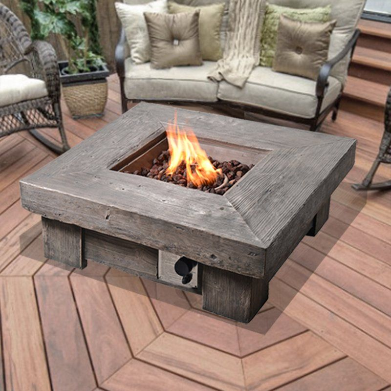 Klingensmith Retro Stone Propane Gas Fire Pit Fire Pit Table Gas Firepit Propane Fire Pit Table