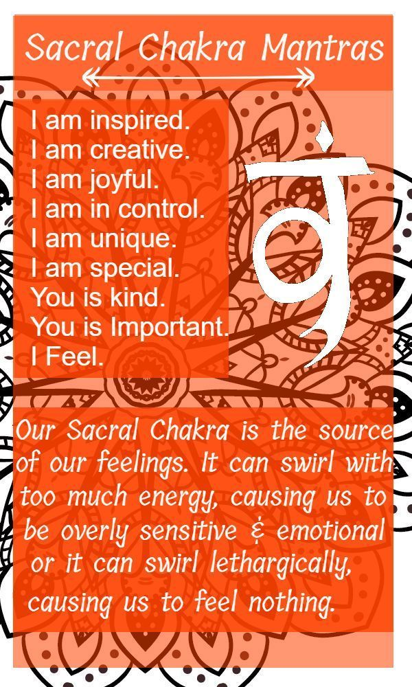 Sacral Chakra; The Creative Chakra » Earth and Water