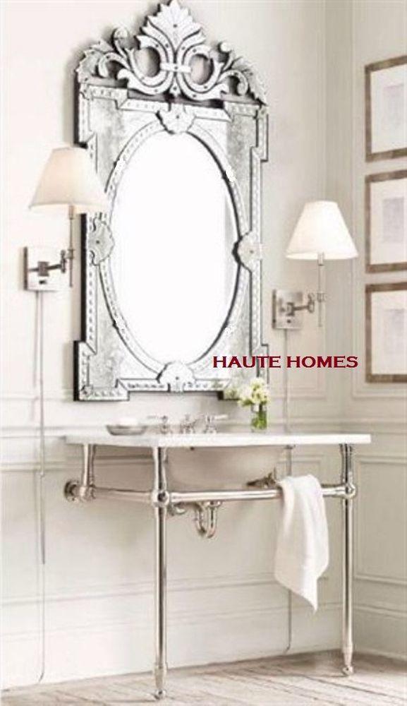 New Designer Stunning 45 Venetian Etch Engrave Rectangle Wall Vanity Mirror Round Mirror Bathroom Venetian Mirrors Mirror Wall