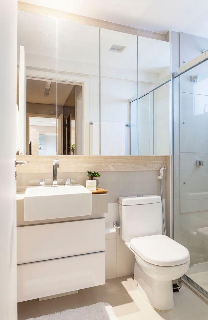 1001  designs impressionnants dune petite salle de bain moderne  Salle de bain  Banheiros modernos Banheiro de apartamento e Decorao banheiro