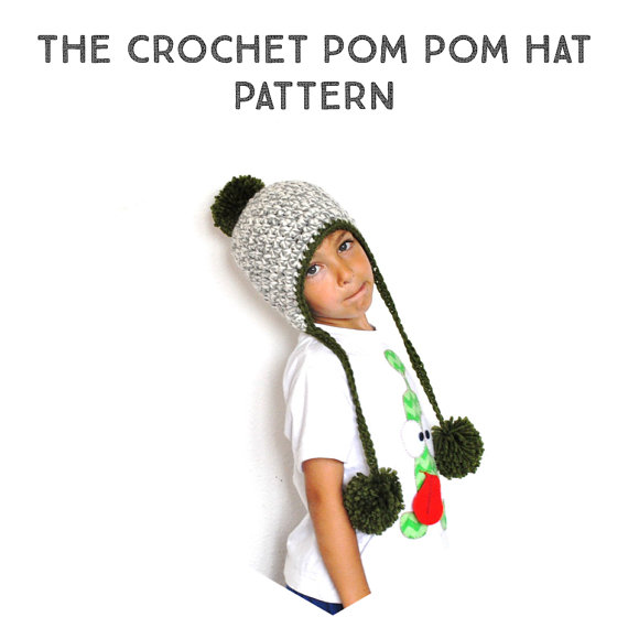 The Crochet Pom Pom Peruvian Hat Pattern, crochet pattern, step by ...