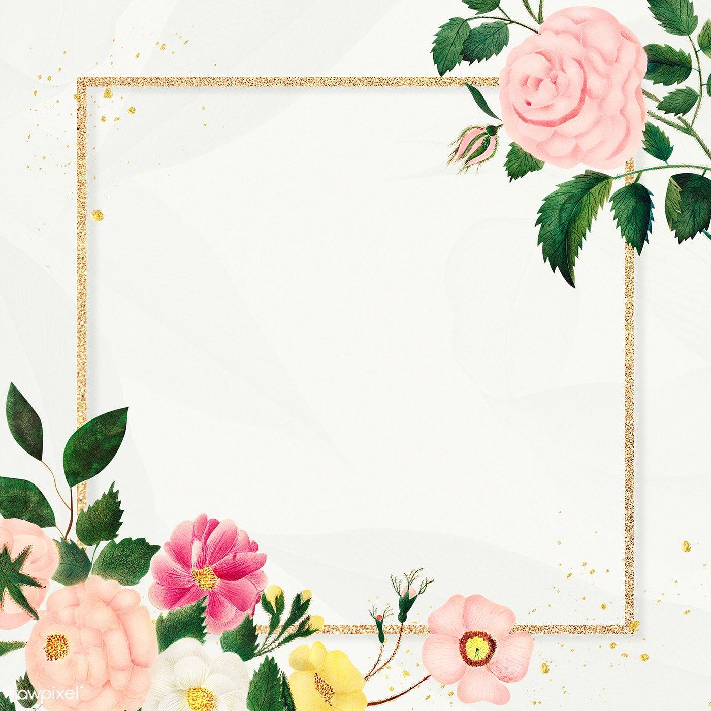 Download Premium Illustration Of Vintage Flower Frame Illustration 2209069 In 2020 Flower Frame Vintage Flowers Frame