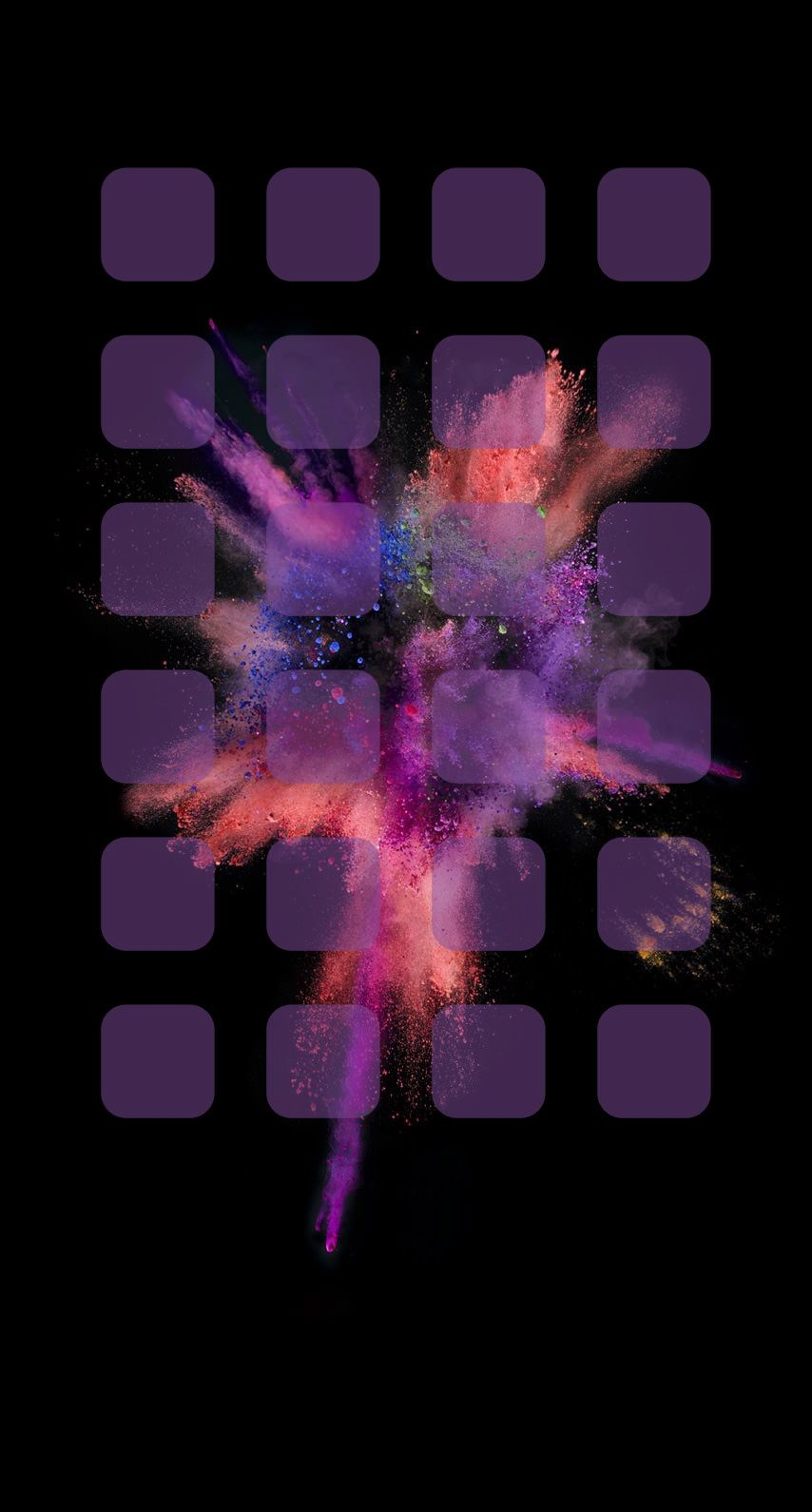 Explosion Purple Shelf Cool Wallpaper Sc Iphone6s Ipod Wallpaper Iphone 6s Wallpaper Iphone Homescreen Wallpaper