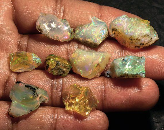 106 Carats Opal Rough Size- 26X47X17 MM Natural Ethiopian Opal Rough  Natural Opal Rough Opal Raw CODE-2 Opal Jewelry Opal huge rough
