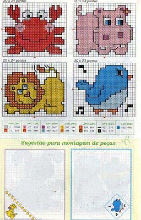 Solo Patrones Punto Cruz   Cross stitch, Stitch and Cross stitch animals
