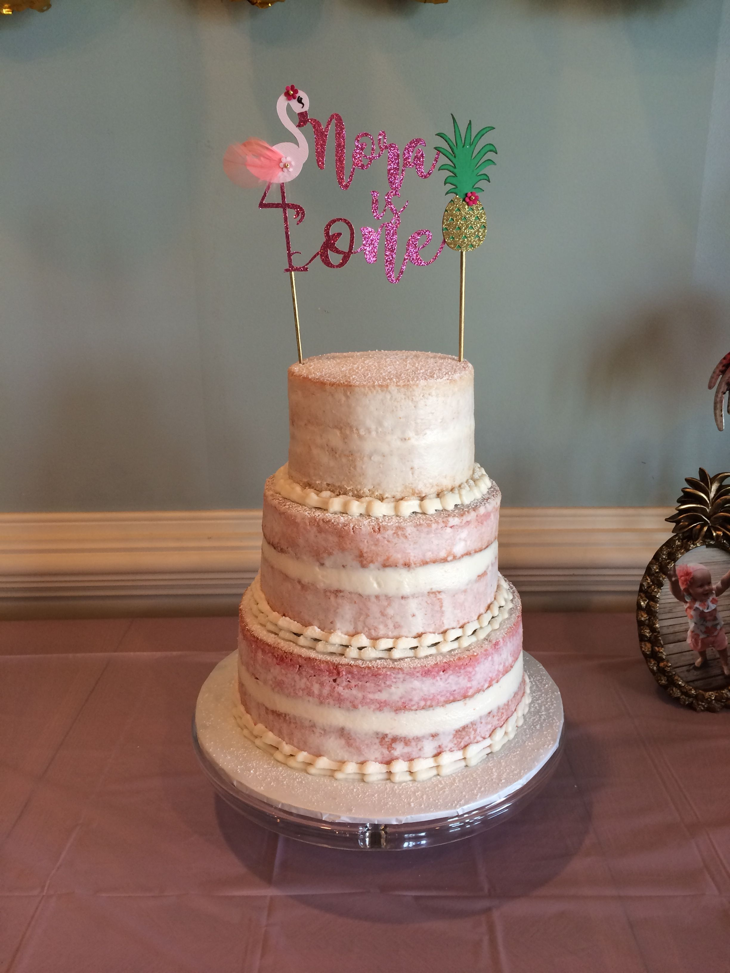Naked Wedding Cake With Assorted Cupcakes - CakeCentral.com
