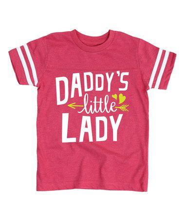 Look at this #zulilyfind! Hot Pink 'Daddy's Little Lady' Football Tee - Toddler & Girls #zulilyfinds