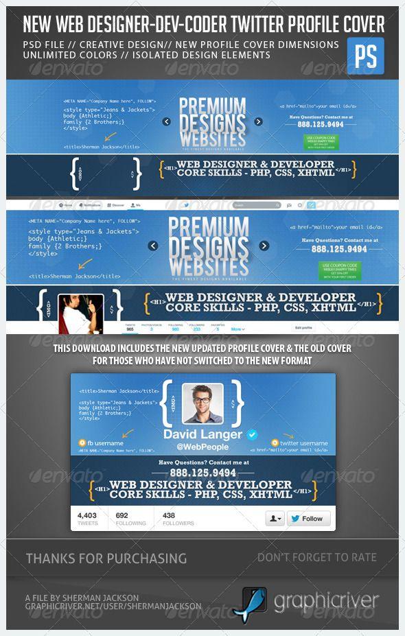 web designer developer coder twitter header photo | twitter header, Powerpoint templates