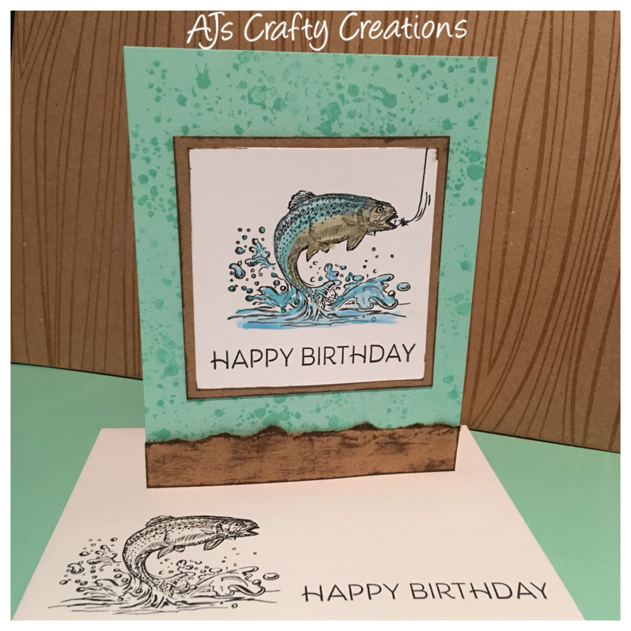 Ctmh Hooked On You Male Birthday Card Masculine Birthday Cards Birthday Cards For Men Ctmh Cards
