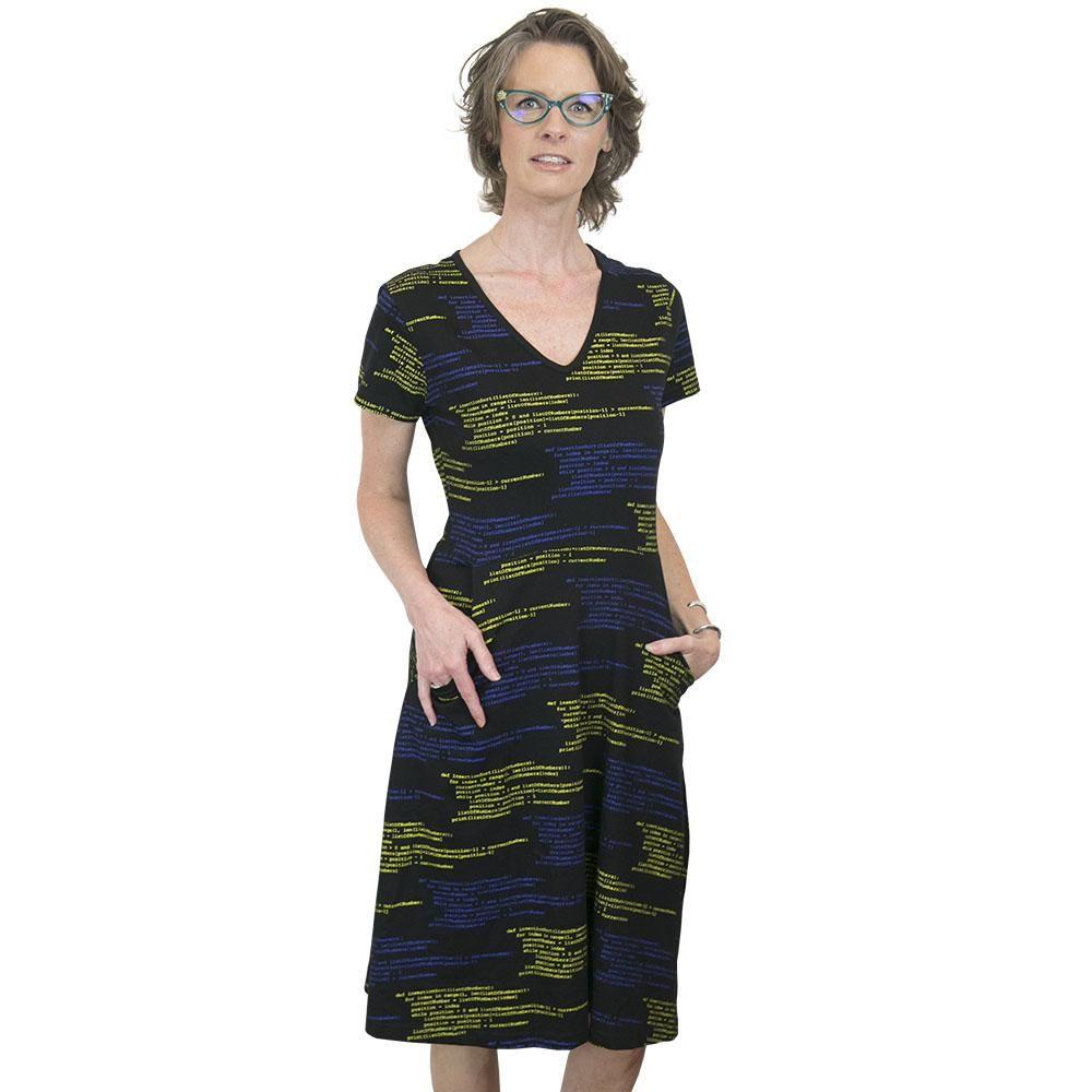 2fca954dfcb Python Code Fit   Flare Dress