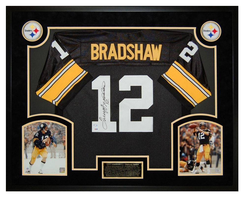 Terry Bradshaw Pittsburgh Steelers Autographed Jersey - Custom ...