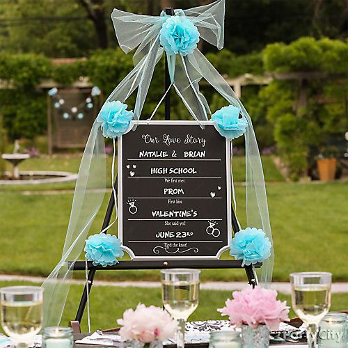 Let your guests know your relationship milestones