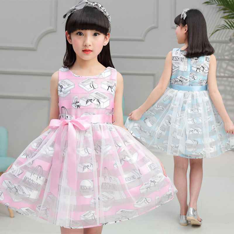 >> Click to Buy << Girls Dresses Summer 2017 Kids Girls Party Dress Fashion O-Neck Baby Clothes For Girls Cute Girl Princess Dress For Wedding #Affiliate