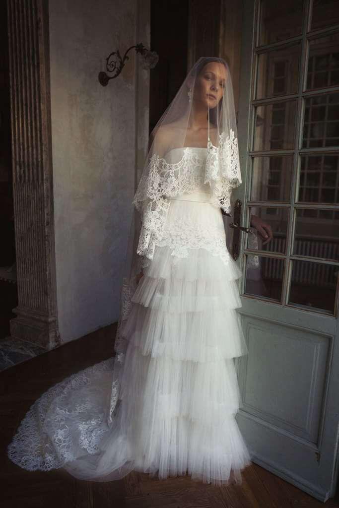 the best attitude 5053a 46898 Abiti da sposa Alberta Ferretti 2017 - Vestito a balze ...