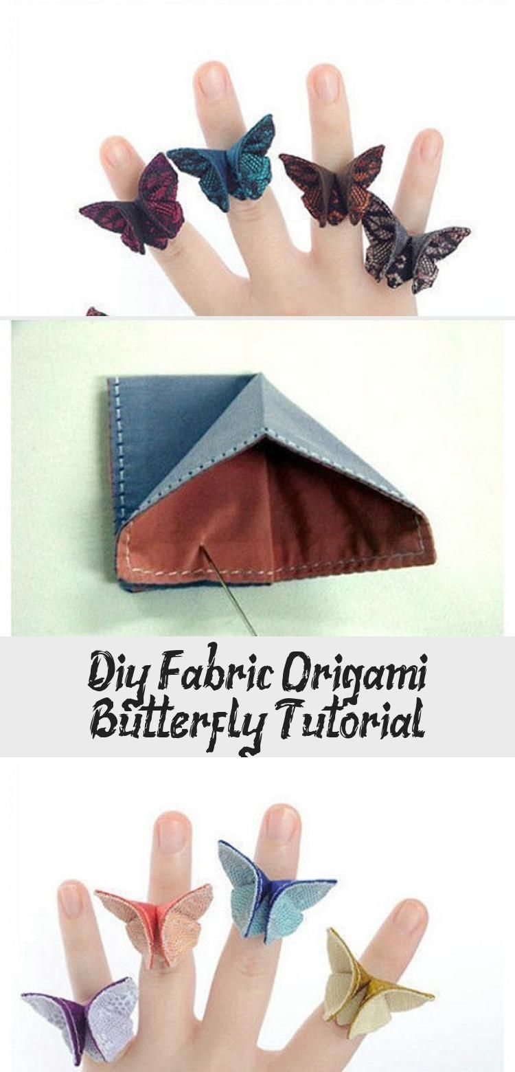 Photo of DIY Stoff Origami Schmetterling Tutorial #origamiButterfly #origamiCajas #origamiBa …