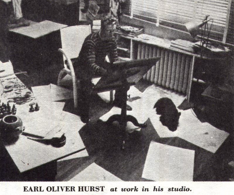 Forty Illustrators and How They Work Photo of Earl Oliver Hurst Watson-Guptill Publications 1946