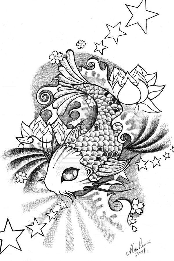 Worksheet. Koi by onksydeviantartcom  pen ink colored pencil  Pinterest