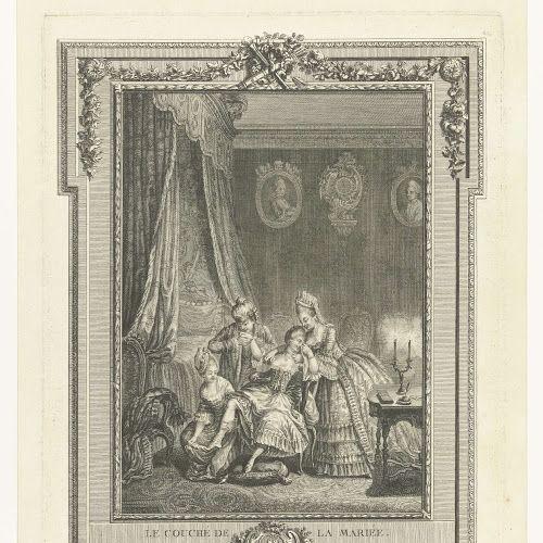 Le Couché de la Mariée, Charles Emmanuel Patas, after Louis Marie Yves Queverdo, 1775 - 1802 - Rijksmuseum