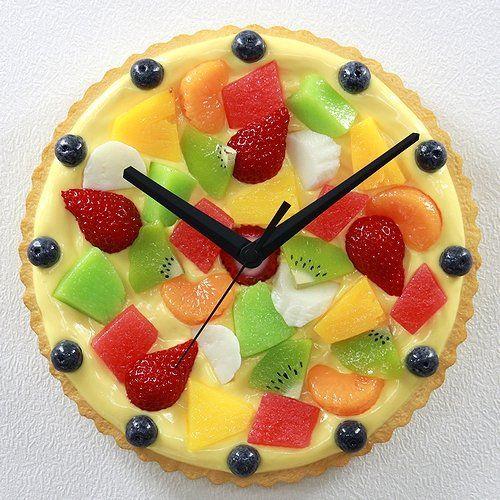 Pin By Gagan Sampla On Clocks: Fruit Cake Wall Clock (food Sample Clock
