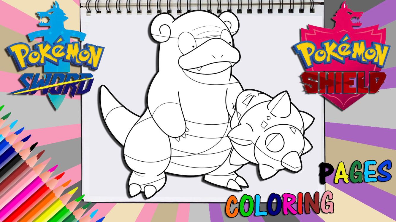Pokemon Sword And Shield Galarian Slowbro Coloring Page Pokemon Pokemon Fan Art Art Day
