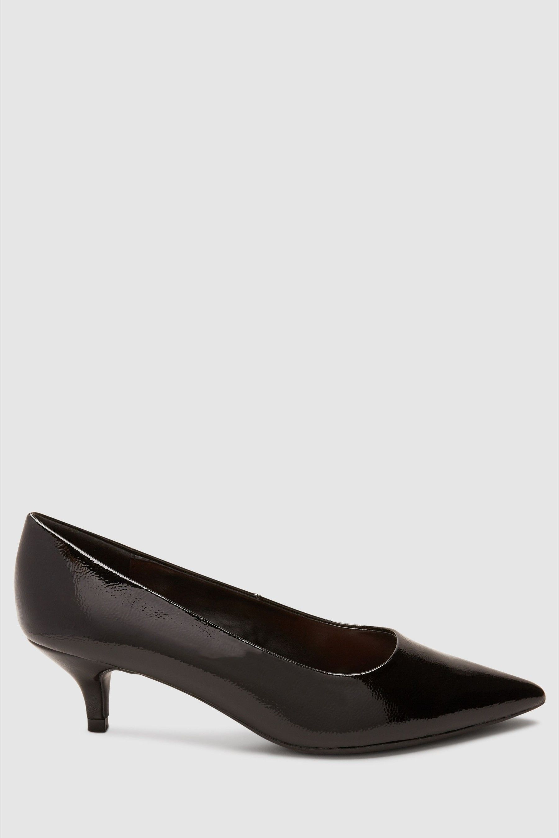 Womens Next Black Patent Forever Comfort Kitten Heel Court Shoes Black Court Shoes Black Shoes Navy Court Shoes