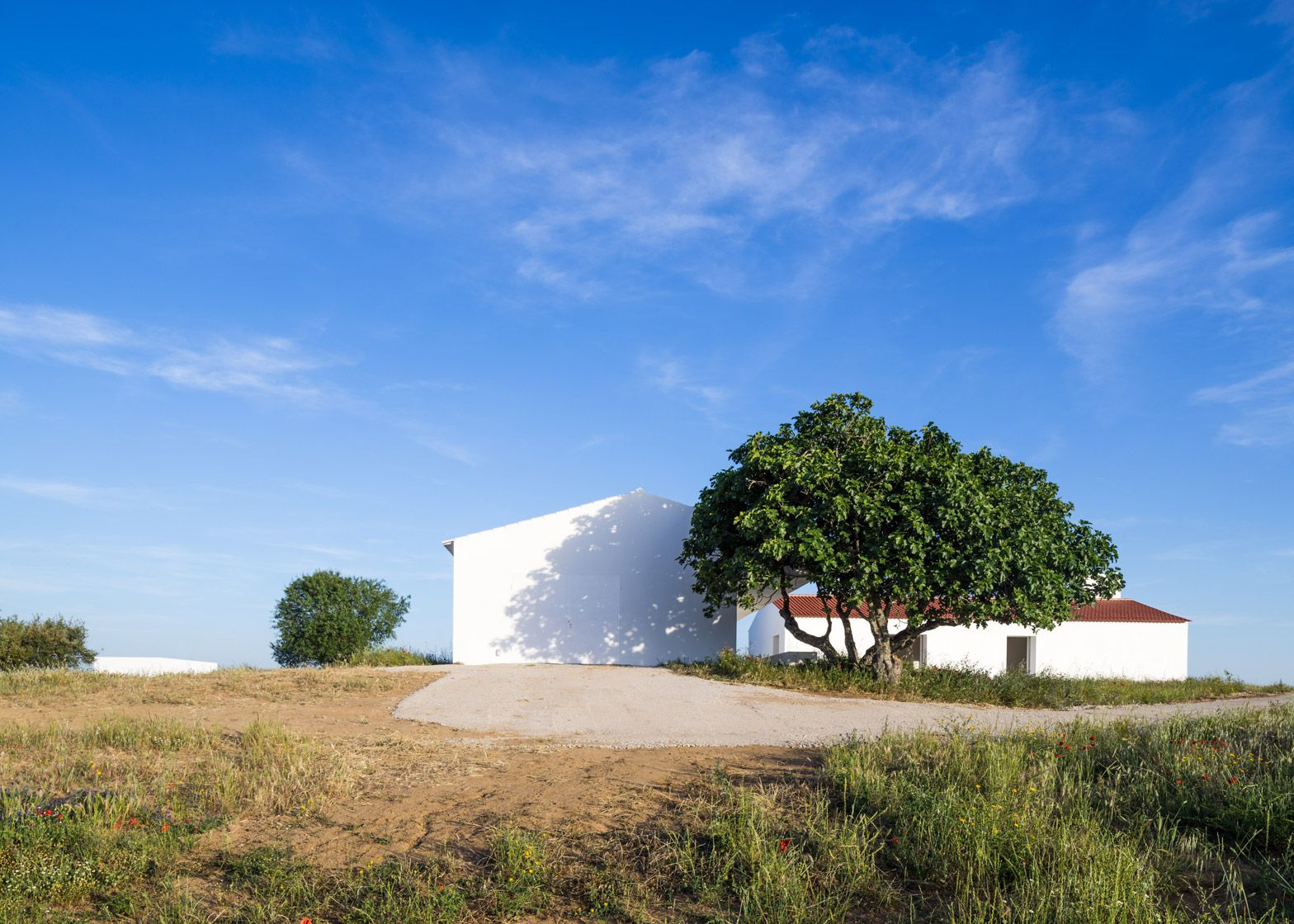 Aboim Inglez Arquitectos adds white extension to farmhouse