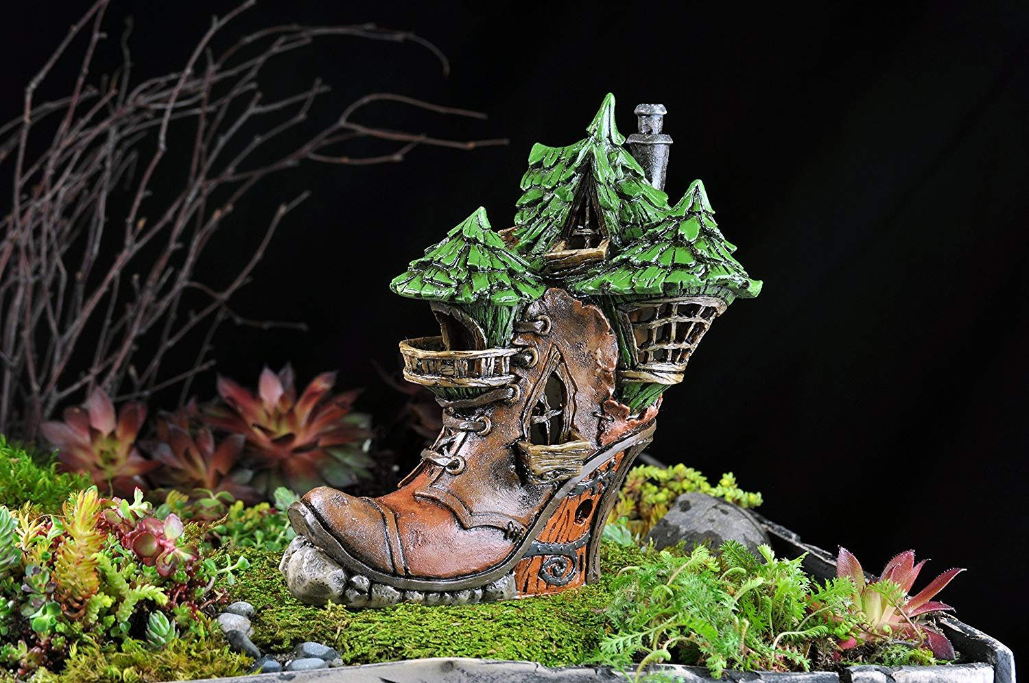 Accessories Old Boot Fairy Cottage Miniature Dollhouse FAIRY GARDEN