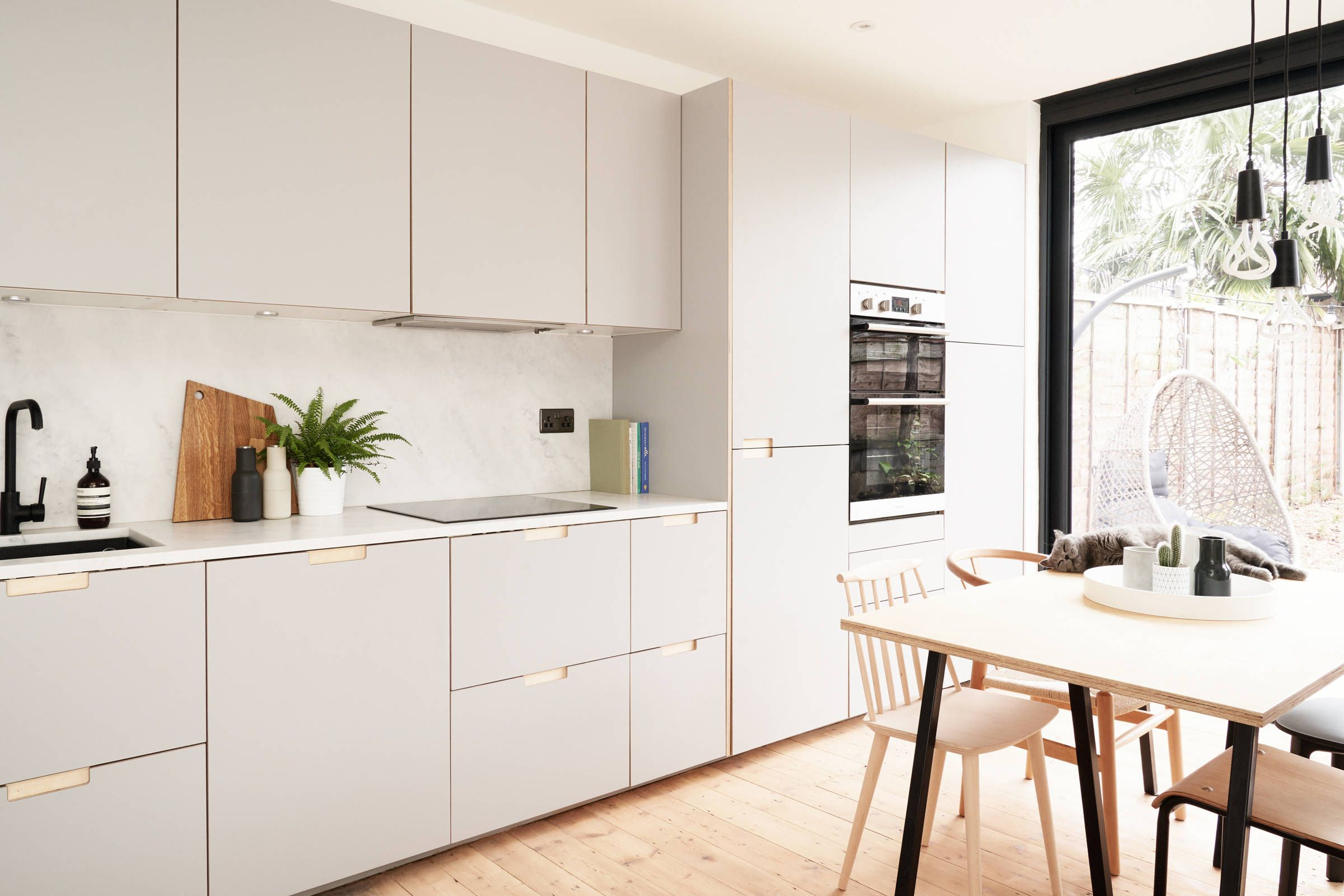Formica faced plywood kitchen in Fox Grey by Plykea in ...