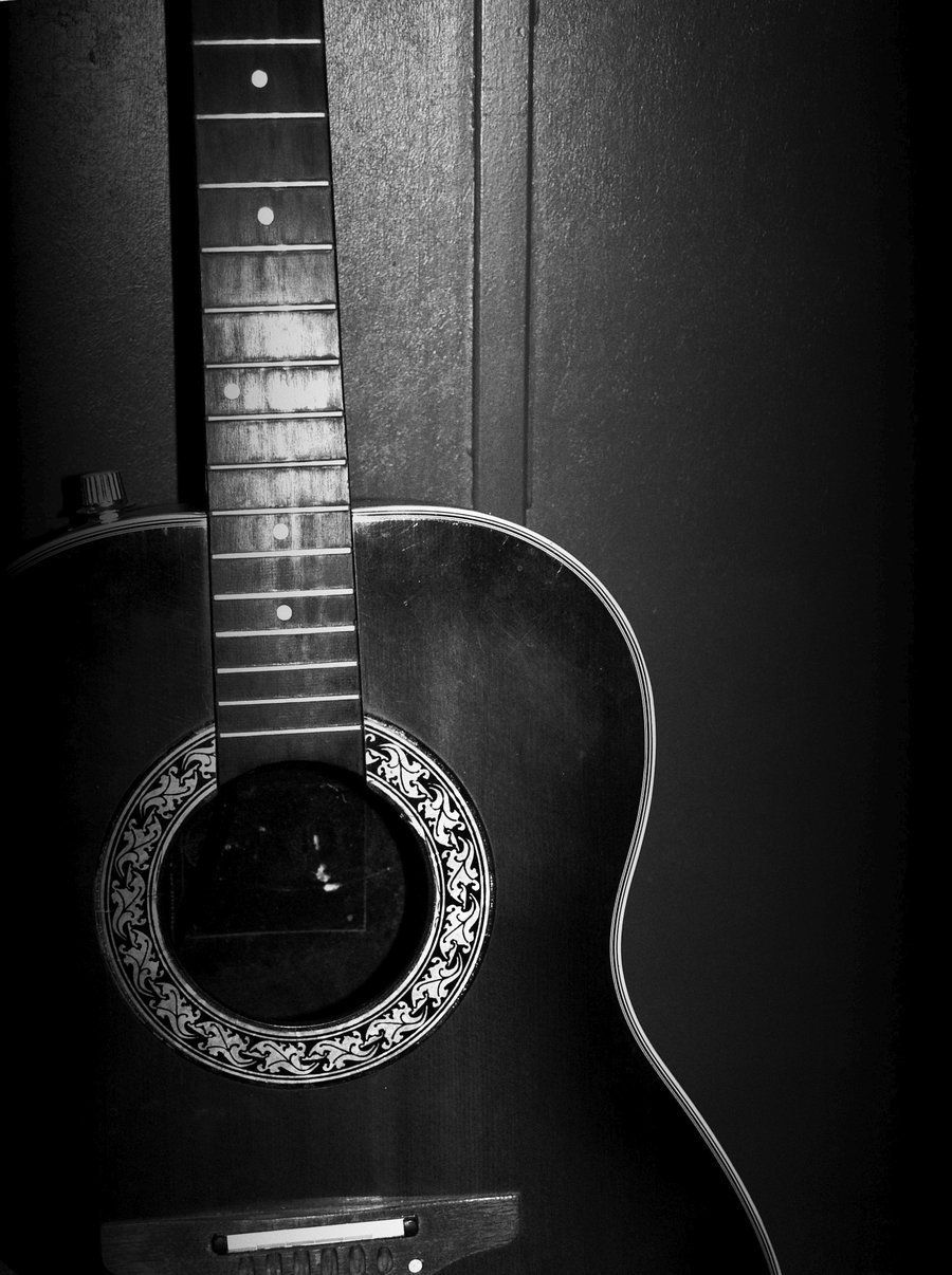 Guitar Photography Wallpaper Hd Preto E Branco Cores